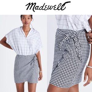 Madewell Gingham Side-Tie Skirt